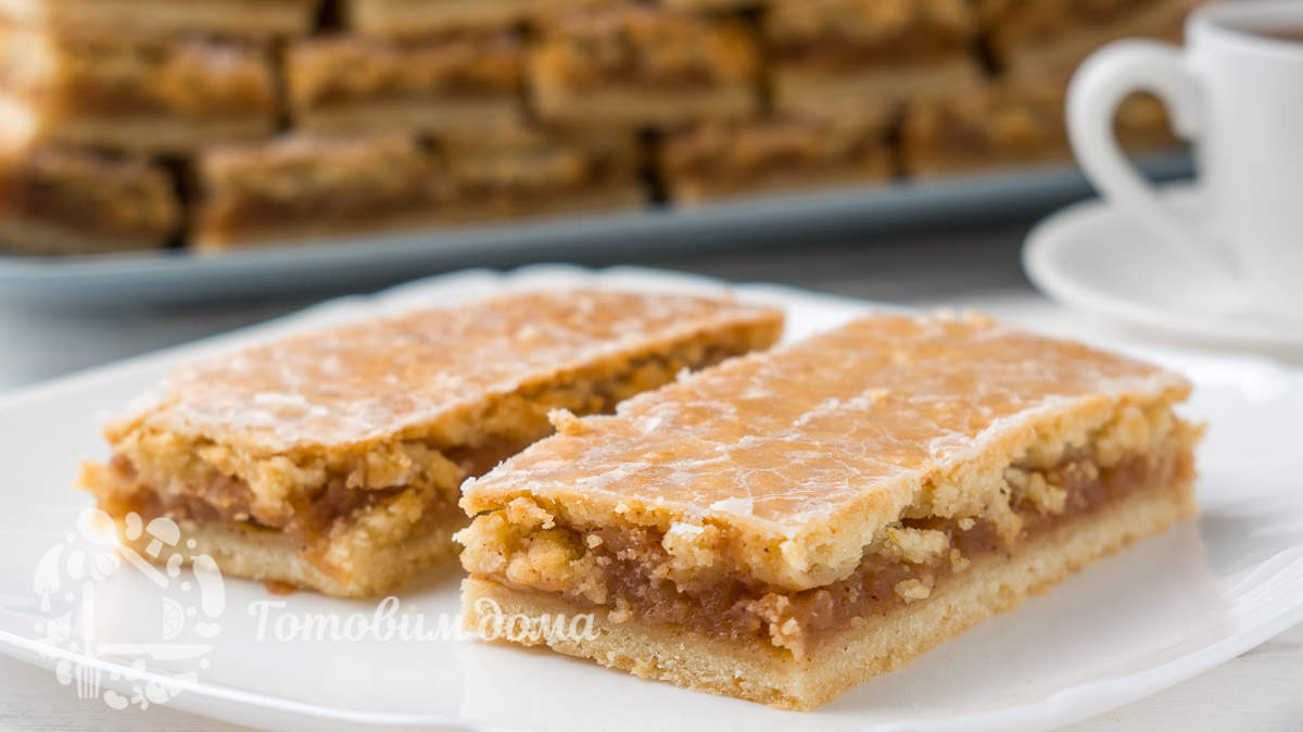 Нежные пирожные с ароматной яблочной начинкой