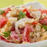 Простой и вкусный салат из 4-х ингредиентов