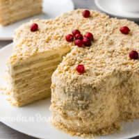 Торт без выпечки с печеньем Мария