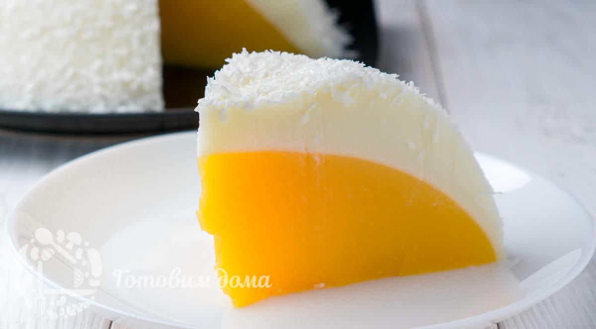 Торт-десерт без выпечки «Яйцо Страуса»