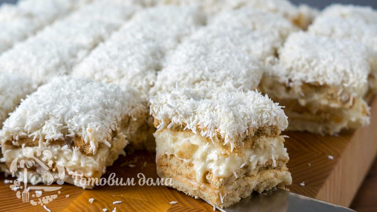 Торт «Рафаэлло» без выпечки за 30 минут