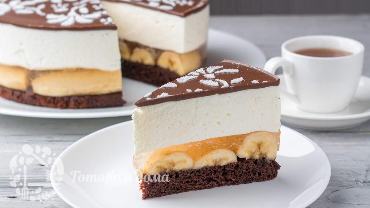 Торт «Шальной банан»