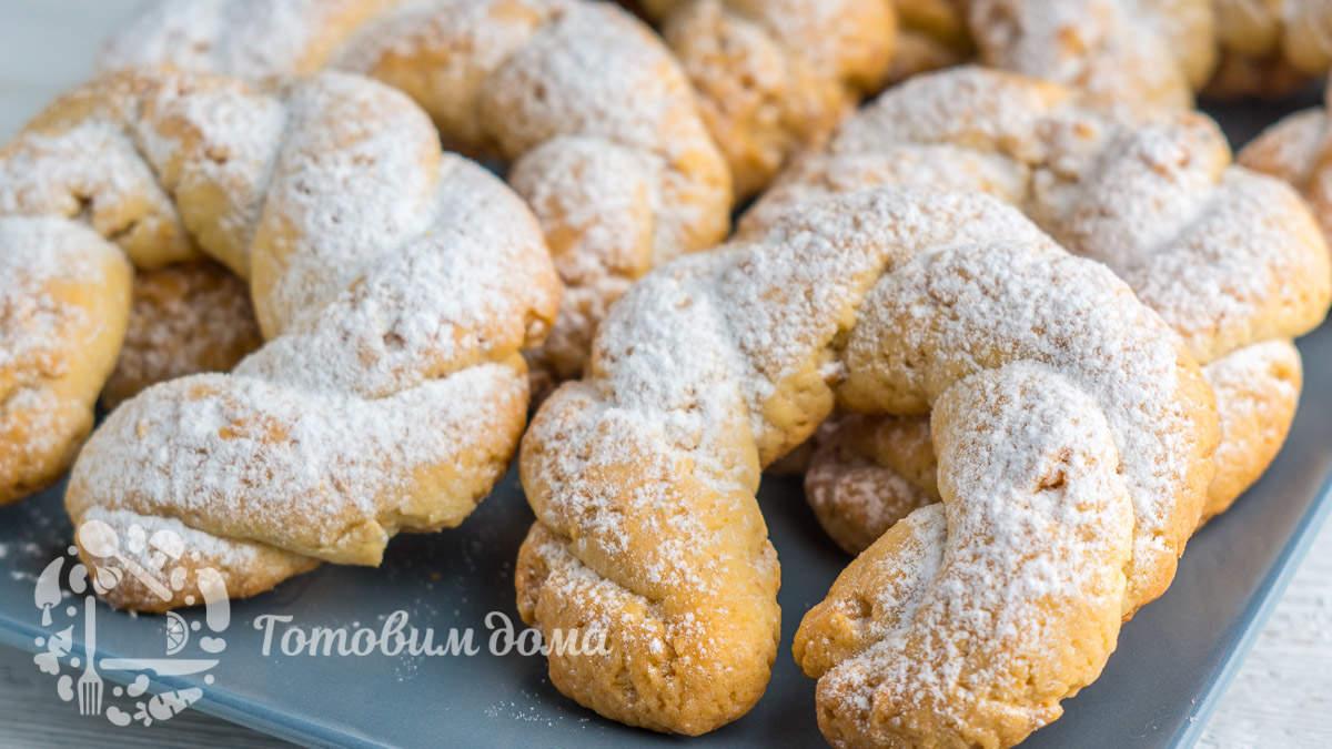 Песочное печенье с арахисом «Карнавальные кольца»