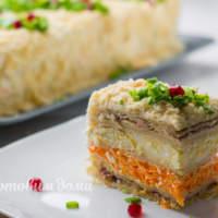 """Праздничный закусочный торт """"Наполеон"""""""