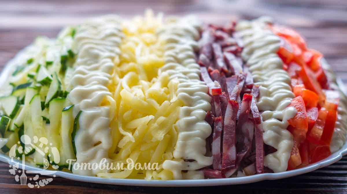 Красивый салат «Елисейские поля» на праздничный стол