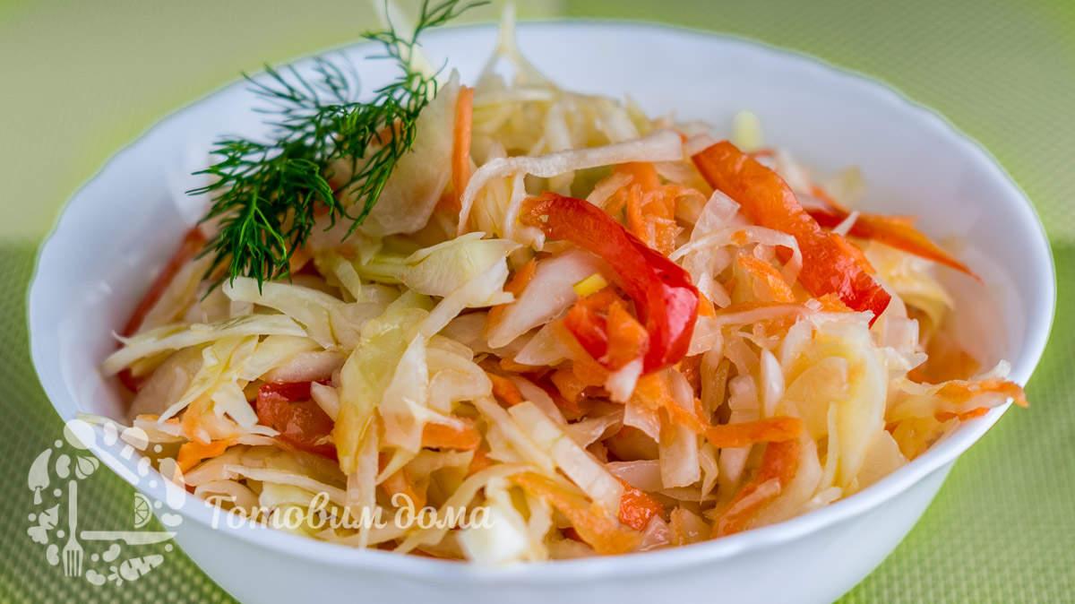 Витаминный салат из капусты. Быстрый рецепт!