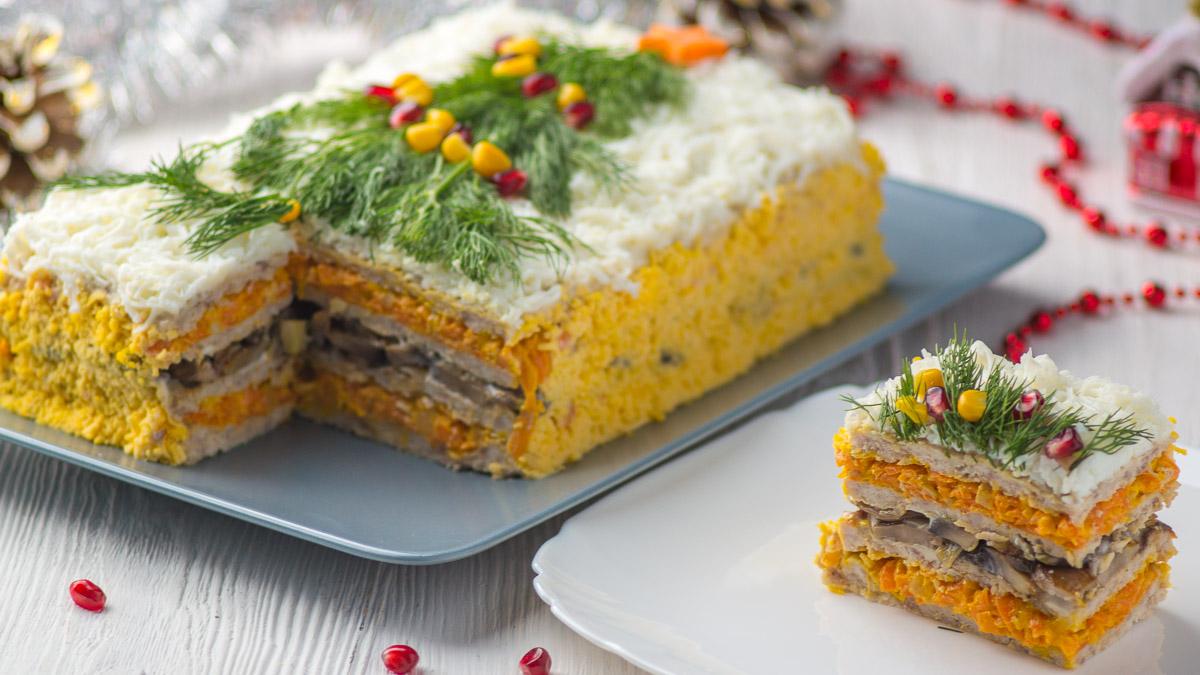 Закусочный Мясной Торт «Новогодняя Ёлочка»
