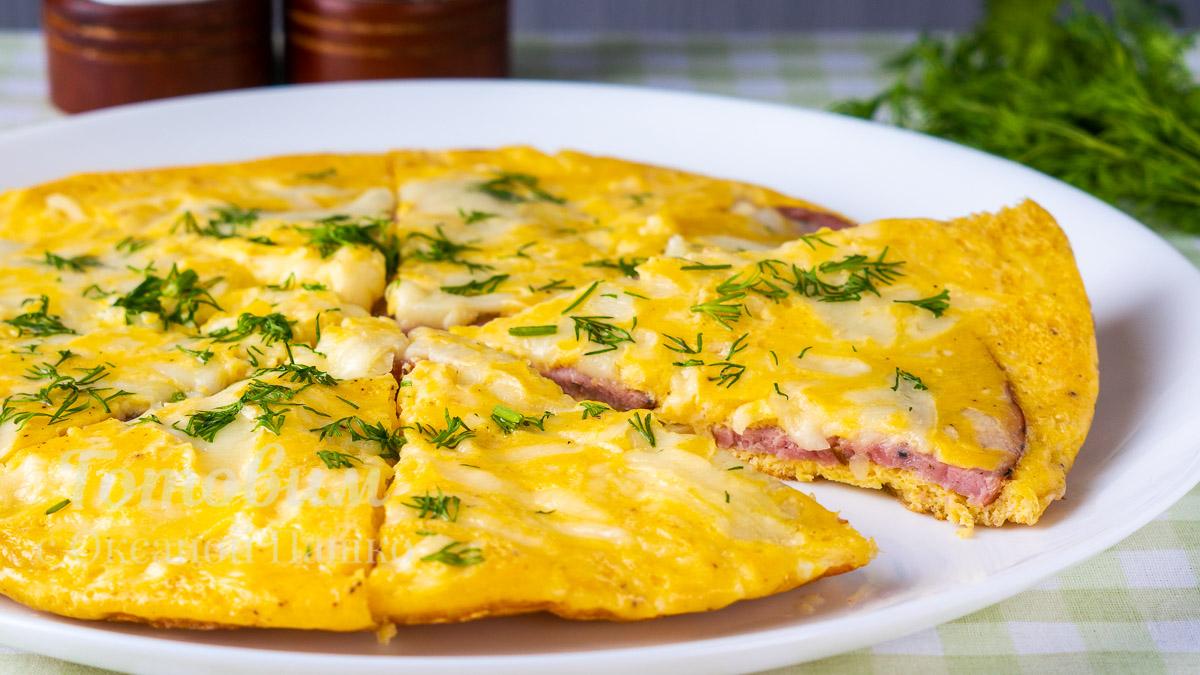 Быстрый завтрак из яиц с картошкой