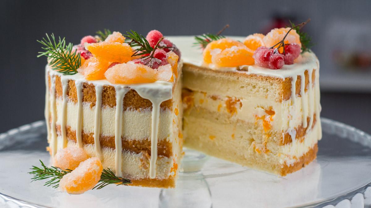 Торт с Мандаринами