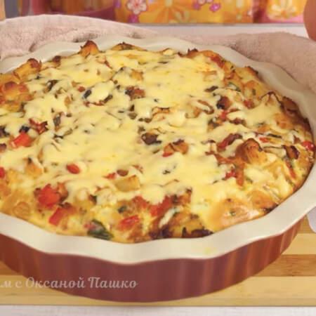 Пирог с курицей и овощами получился очень вкусным и сытным. Обязательно его приготовьте в сезон свежих овощей.