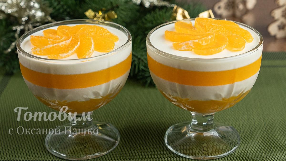 Десерт с Мандаринами без Выпечки