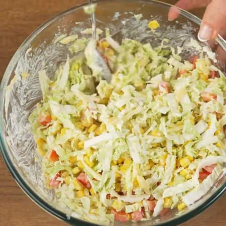 Салат готов, можно подавать на стол.