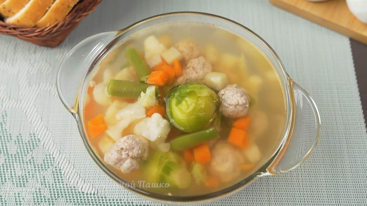 Суп с овощами получился очень ароматный, легкий и вкусный. Готовится просто и быстро.  По желанию в этот суп можно добавить картофель или рис.