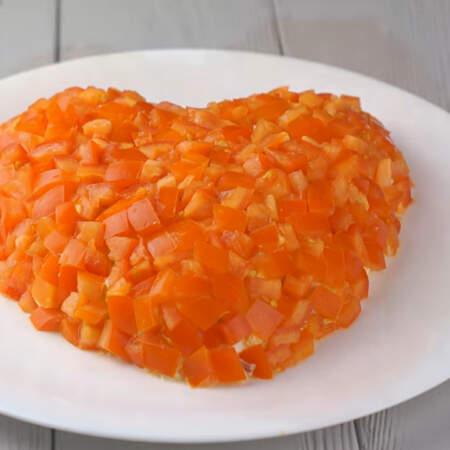 """Салат """"Сердце"""" получился красивым, ярким и очень вкусным."""