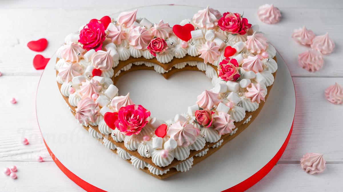 Торт СЕРДЦЕ на День Влюбленных