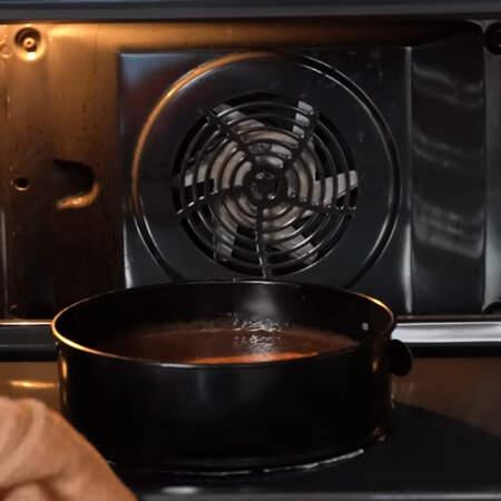Все ставим в духовку разогретую до 160 град и выпекаем приблизительно 50 мин.