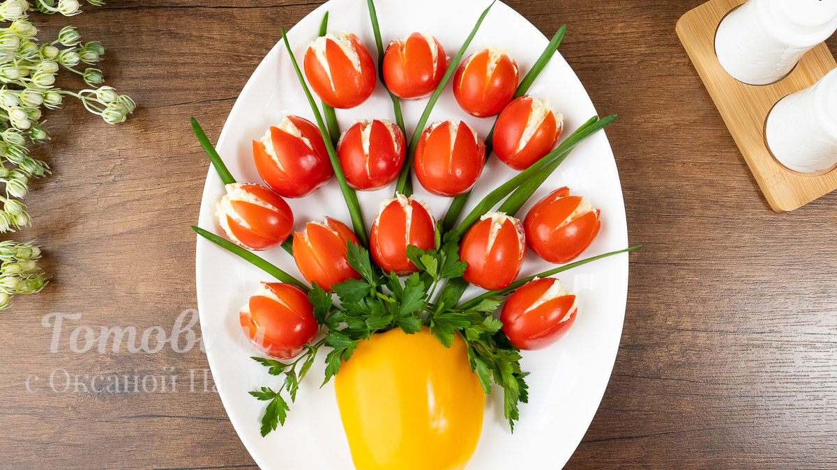 Шикарный Салат-Закуска ВАЗА с Тюльпанами