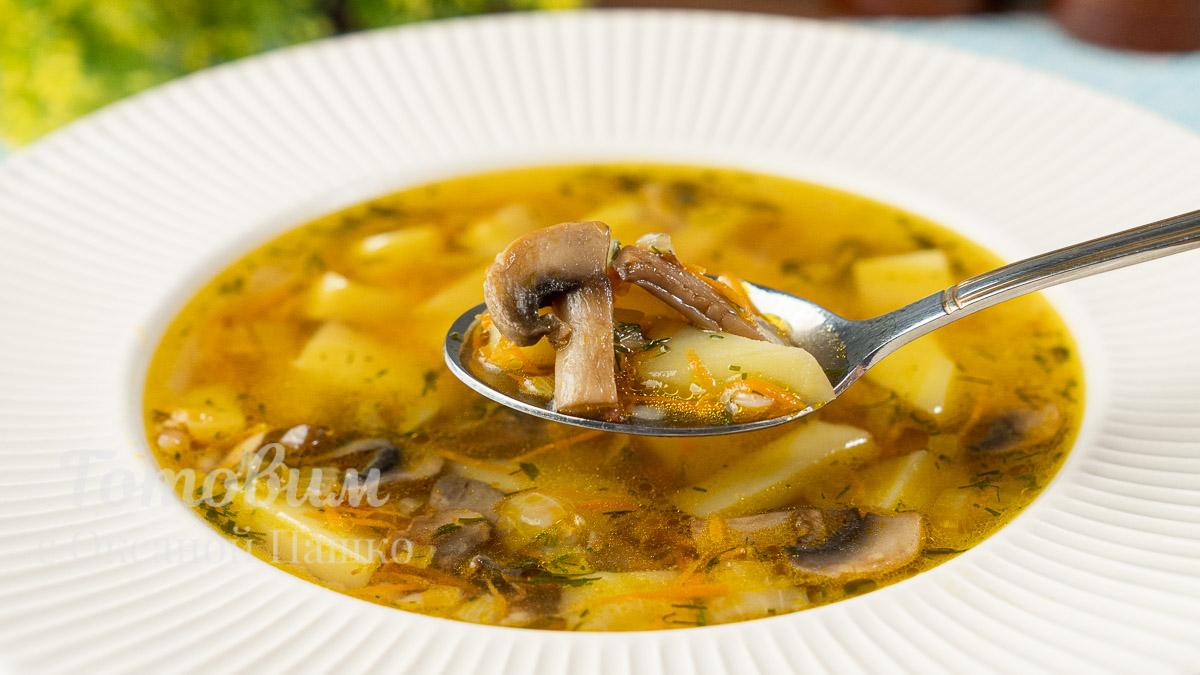 БЫСТРЫЙ Суп с Гречкой и Грибами