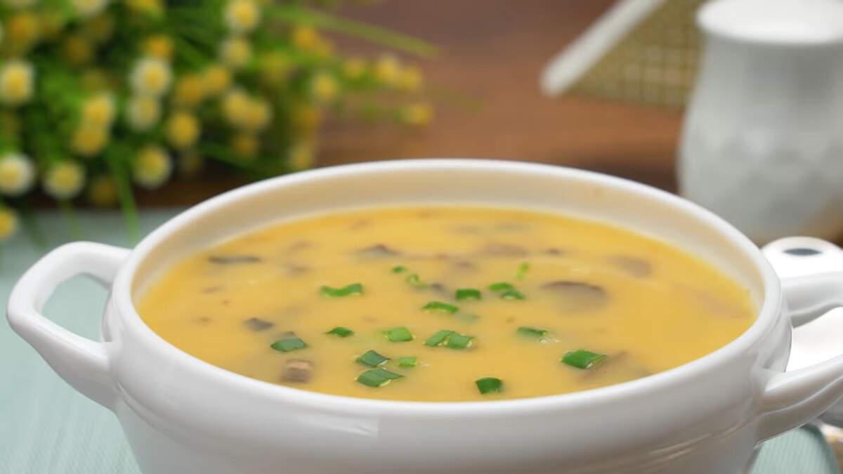 При подаче суп посыпаем зеленью, я посыпала зеленым луком. Суп можно подавать с хлебом или сухариками. Грибной суп-пюре получился очень вкусным и ароматным. Приготовить его не составит особого труда. Обязательно приготовьте такой суп, порадуйте своих родных и близких.