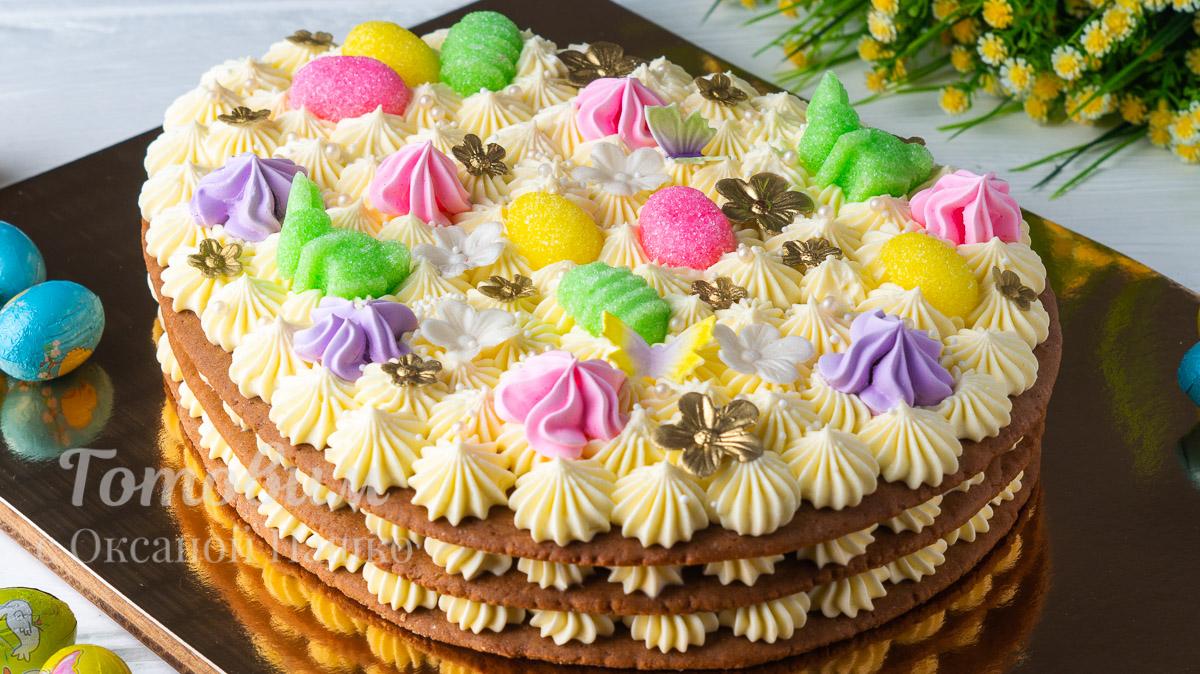 Торт Медовик Пасхальное Яйцо