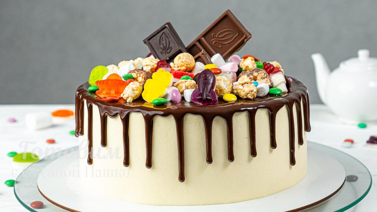 Красивый и Вкусный ТОРТ со Сладостями на День Рождения