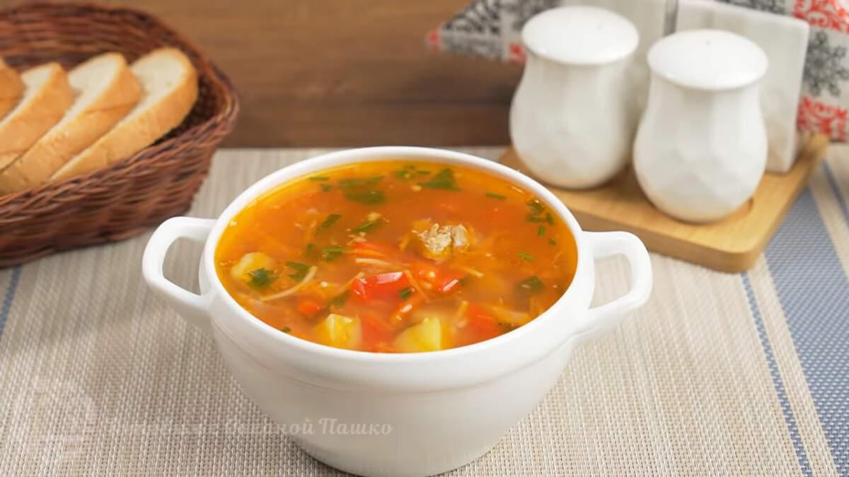 Суп с томатами получился очень вкусным и сытным. Готовится просто и продукты все доступные. Также такой суп можно приготовить с рисом. Ребрышки можно заменить куриным мясом или готовить без него. Так тоже будет вкусно.
