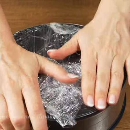 Также можно использовать миску или кастрюлю. Диаметр моей формы 21 см.