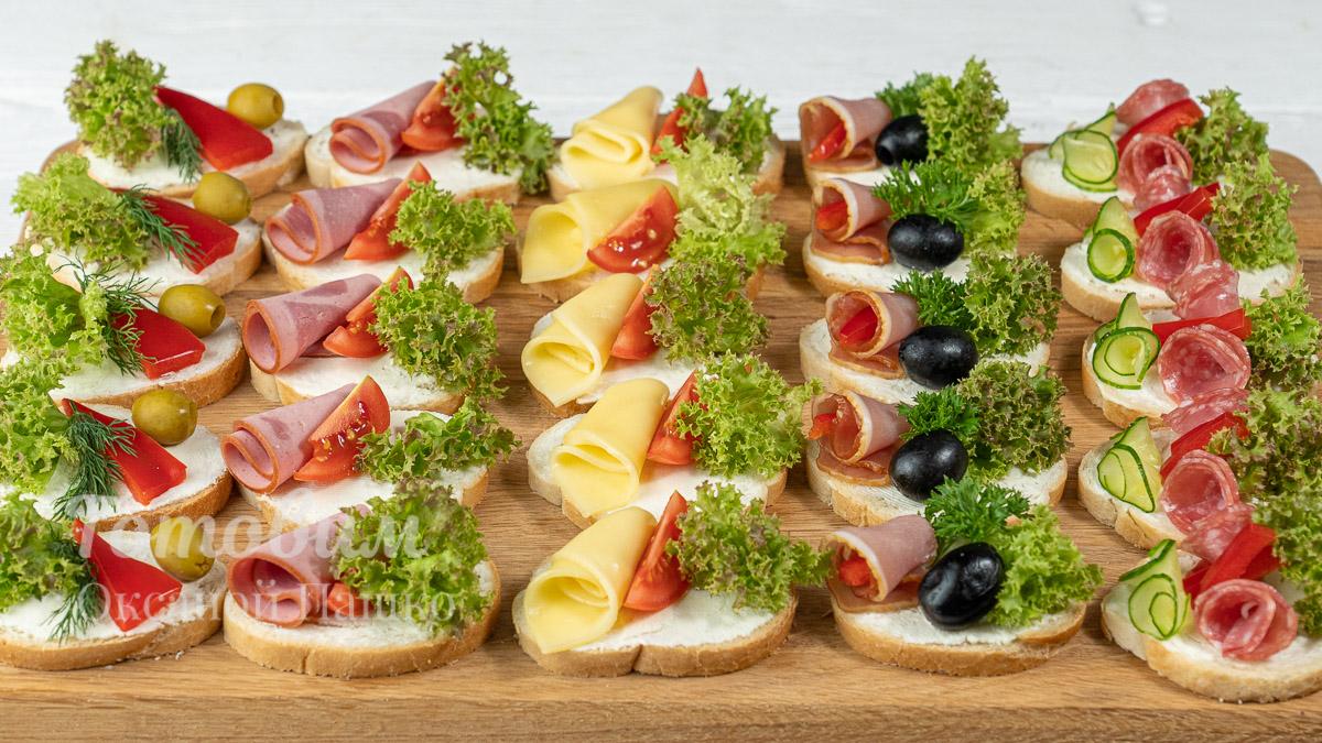 Бутерброды на Праздничный Стол. 5 Видов!