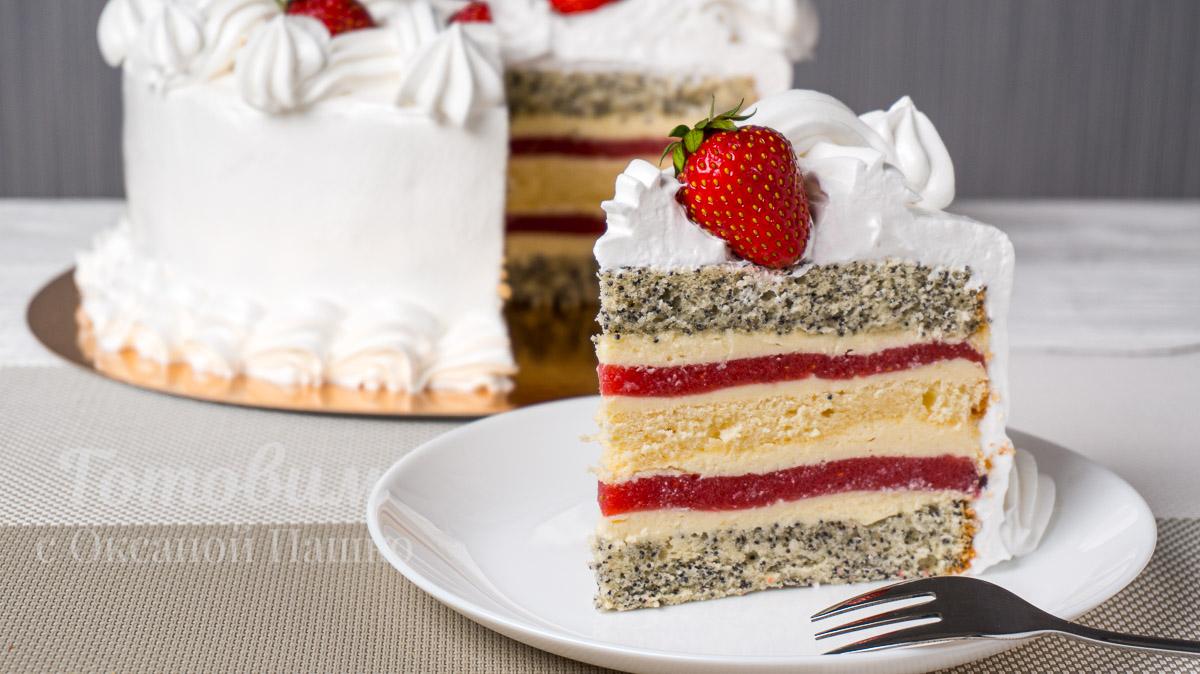 Торт «Клубничный Поцелуй»