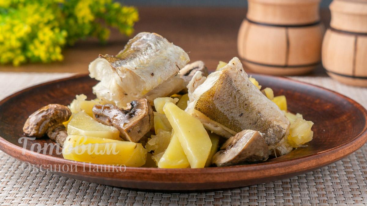 Картошка с рыбой в рукаве