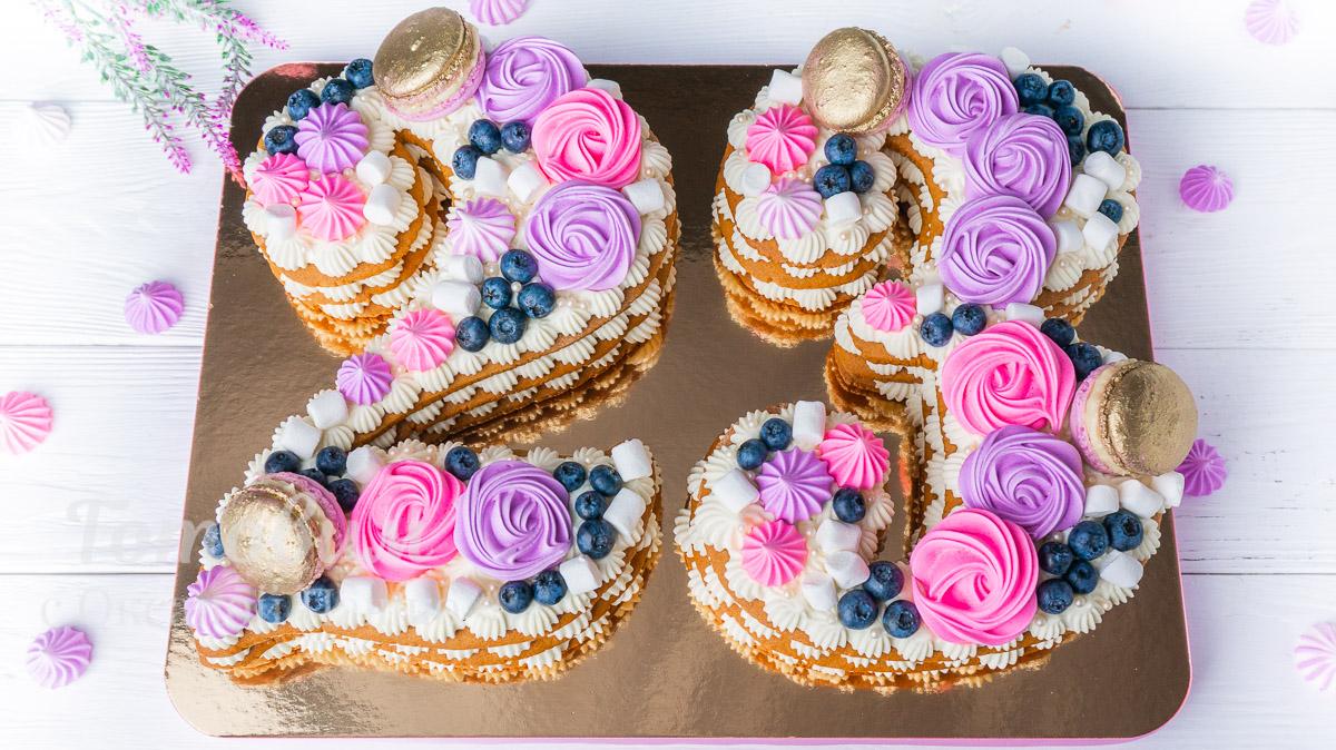 Эффектный Торт ЦИФРА на День Рождения