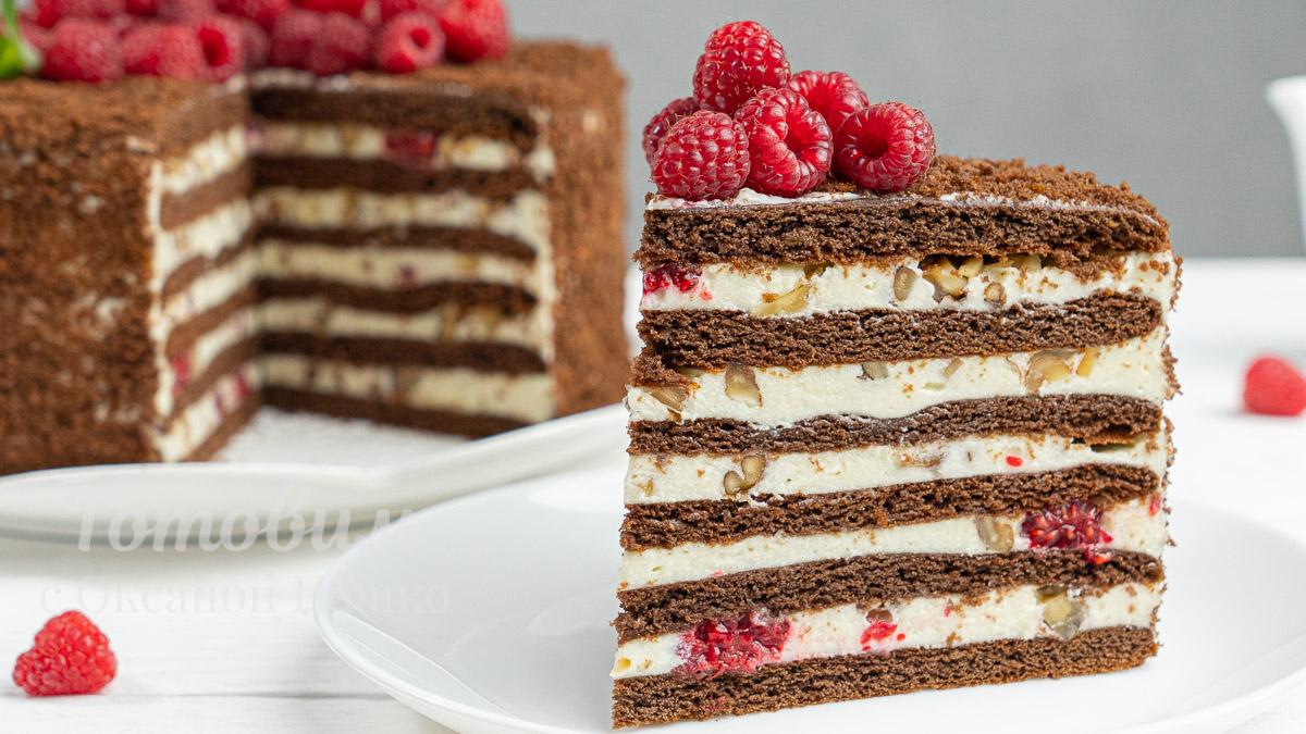 Торт СПАРТАК с Малиной